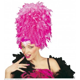 Sequinned Feather Headdress Hot Pink - Fancy Dress