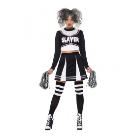 Fever Gothic Cheerleader Fancy Dress Costume (Horror, Sport)