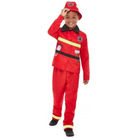 Fire Fighter Fancy Dress Costume Fire Service