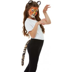 Smiffys Make-Up FX, Kids Tiger Kit, Aqua Animals
