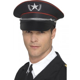 Deluxe Military Hat Fancy Dress Accessory