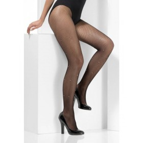 Crystallised Fishnet Tights Fancy Dress Accessory