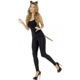 Adult Leopard Fancy Dress Accessory Kit