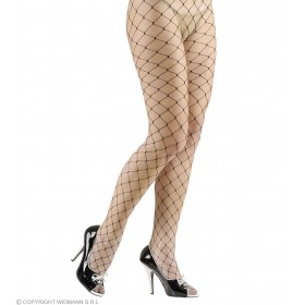 Pantyhose Wide Fishnet - Black Lycra - Fancy Dress