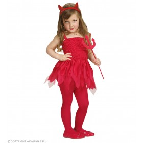 Beauty Devilin Dress, Horns, Pitchfork Costume (Halloween)
