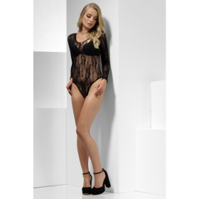 Lace Bodysuit Fancy Dress Accessory - Black