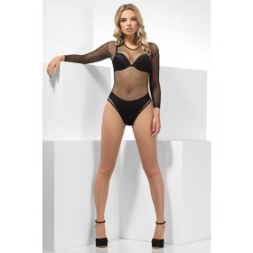 Fishnet High Leg Bodysuit Fancy Dress Accessory