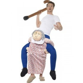 Piggyback Grandma Fancy Dress Costume