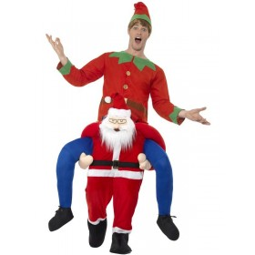 Piggyback Santa Fancy Dress Costume
