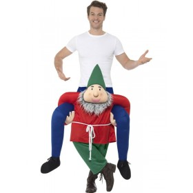 Piggyback Gnome Fancy Dress Costume