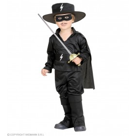 Black Bandit Hero Jumpsuit W/Cape 98, 104Cm Costume (Cultures)