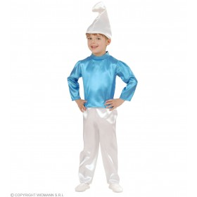 Blue Dwarf With Coat, Pants, Hat Fancy Dress Boys