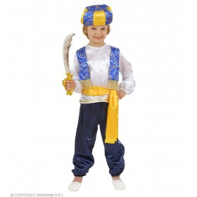 Arab Prince - Shirt, Vest, Pants, Belt, Hat Fancy Dress (Royalty)