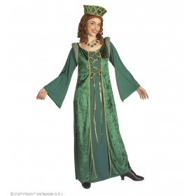 Xxl Lady Eleonora Dress, Hat Fancy Dress Costume
