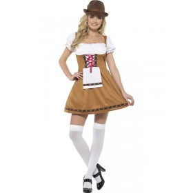Bavarian Beer Maid Fancy Dress Costume