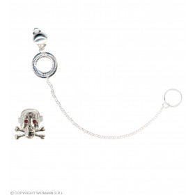Punk Set Earring Chain And Ring - Fancy Dress