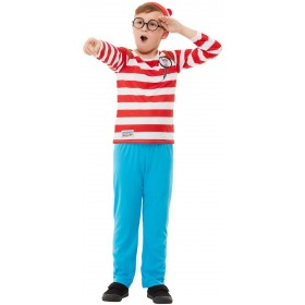 Where's Wally? Deluxe Fancy Dress Costume Book Day (Official Licensed)