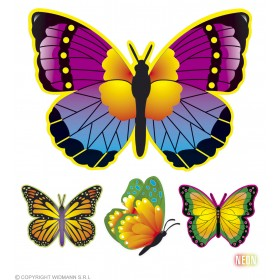 Neon Butterfly Decoration 4Styles - Fancy Dress