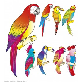 Tropical Bird Cutouts 8 Styles - Fancy Dress 1 Supplied