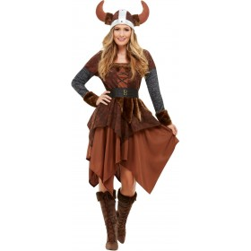 Viking Barbarian Queen Fancy Dress Costume Book Day
