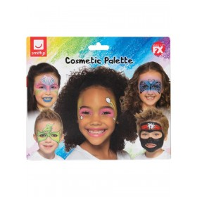 Smiffys Make-Up FX, Kids Five Character Kit, Aqua Halloween