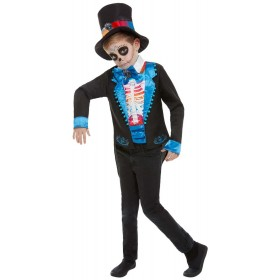 Day of The Dead Boy Fancy Dress Costume Halloween