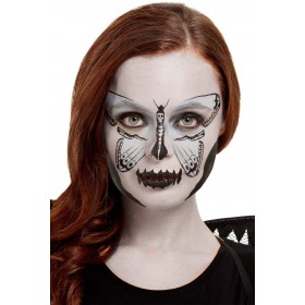 Smiffys Make-Up FX, Dark Botanicals Moth Kit, Aqua Halloween