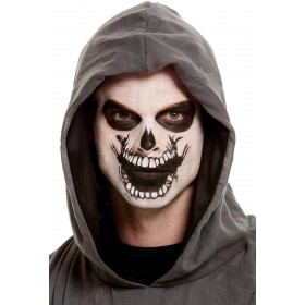 Smiffys Make-Up FX, Skeleton Mouth Face Transfer Halloween
