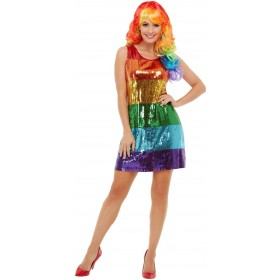 All That Glitters Rainbow Fancy Dress Costume Novelty Pride
