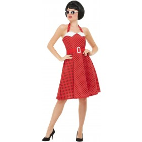 50s Rockabilly Pin Up Fancy Dress Costume 1950s