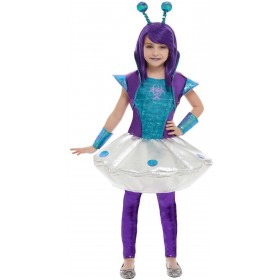 Alien Girl Space Fancy Dress Costume Halloween