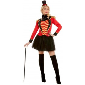 Deluxe Ringmaster Lady Fancy Dress Costume Circus Halloween