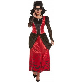 Gothic Vampiress Fancy Dress Costume Halloween