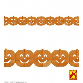 Garland 3M Flme Ret Pumpkin - Fancy Dress (Halloween)