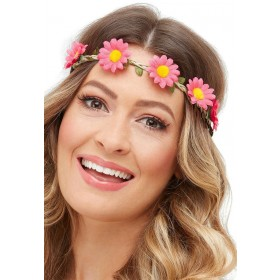 Hawaiian/Hippie Daisy Chain Headband Fancy Dress