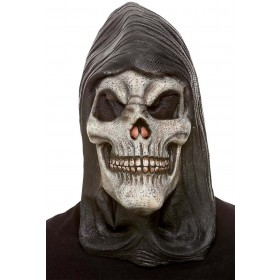 Hooded Skeleton Latex Mask Halloween Fancy Dress