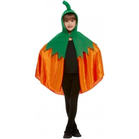 Pumpkin Hooded Cape Halloween Fancy Dress