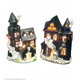 Haunted Castle Tealight Holders - Fancy Dress (Halloween)