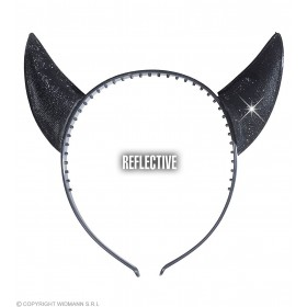 Horns Reflective Black - Fancy Dress