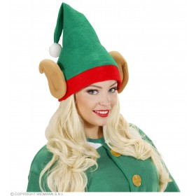 Santas Little Helper Elf Hats W/ Ears Christmas Hats
