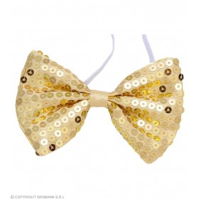 Gold Sequin Bow Ties - Fancy Dress