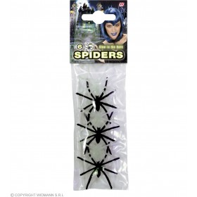 Bag Of Spiders Gid/Black - Fancy Dress (Halloween)