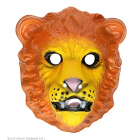 Lion Mask Plastic Child - Fancy Dress (Animals)