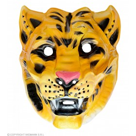 Plastic Tiger Masks - Fancy Dress (Animals)