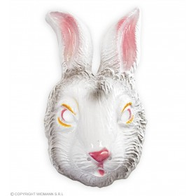 Plastic Rabbit Mask - Fancy Dress (Animals)