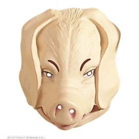 Plastic Pig Masks Fancy Dress