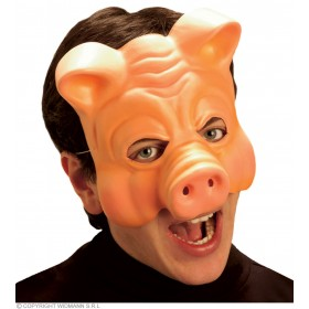 Pig Mask Vinyl Half Face - Fancy Dress (Animals)