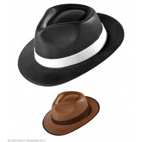 Borsalino Hat Eva Black/Brown - Fancy Dress