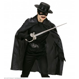 Mens Black Cape 100Cm Halloween Outfit - One Size (Black)
