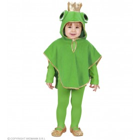 Plush Frog Hooded Poncho 98 - 110Cm Fancy Dress Costume (Animals)
